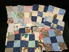 27 Vintage Antique Quilt Blocks Cotton Fabric 9 Patch Depression Era 1900s-30