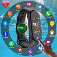 Bluetooth Smart Watch Heart Rate Blood Pressure Sport Tracker M4 IOS Android