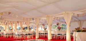 6x12m Flat Ivory Marquee Roof Lining