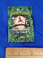 The Jungle Book PINBACK VIDEO VTG VHS PROMO STORE Disney 90s Now Unleashed on