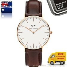 Daniel Wellington Ladies Watch Classic Bristol Rose Gold Brown Leather 0511DW