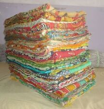 10 Pcs Mix Lot Kantha Handmade Indian Vintage Quilt Reversible Kantha Bed Cover