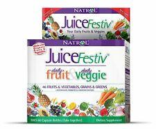 Natrol - Juicefestiv Fruta Y Vegetal Súper Comida - 2 x 60 Cápsula Botellas