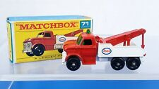 Rare Lesney Matchbox No #71 Wreck Truck *ESSO* Red White w/Original Box!