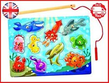 Melissa & Doug Magnetic Wooden Fishing Game with Magnetic Fishing Pole