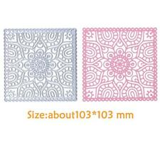 DIY Creative Square Embossing Metal Cutting Dies Stencils Paper Card Silver K1b