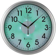 Reloj de Pared Automatico con Sensor de Luz Dia Noche Señal Radio Color Verde