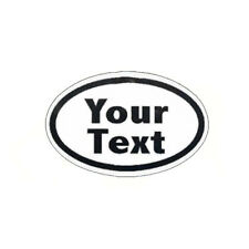 Custom Text Ovals. Pesonalized Vinyl Decal sticker FREE SHIPPING