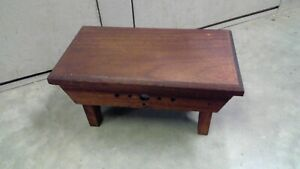 Vintage Mahogany Wooden Step Stool 14 inch Plant Stand