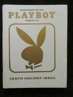 Vintage Playboy Magazine  Dec 1963  Flat Tight Glossy Complete Book!! See Pics!!