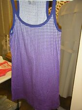 NO BOUNDARIES PURPLE POLKA DOT SLEEVELESS TEE 100% COTTON XL