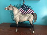 VINTAGE 70's BREYER DAPPLE GRAY PROUD ARABIAN STALLION HORSE grey horses Breyers