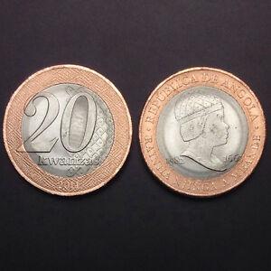 "Angola 20 Kwanzas, 2014, KM#New, one Coin, ""RAINHA NJINGA A MBANDE"" UNC, Real"