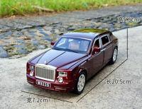 XLG 1:24 Diecast  Rolls-Royce Phantom  Model Car Toy Sound&Light  Gift