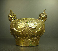 Elément art nouveau en bronze doré c 1900 Jugend Style sculpture H:17cm 2kg