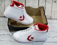 Converse Pro Leather 76 Mid (157426C) White Casino Red Mens Shoes Sz M 9  W 10.5