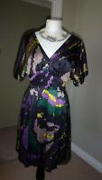 Beautiful Coast Kimono Style Dress, 100% Pure Silk, Size 8