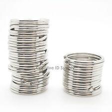 """Keychain Split Key Ring 3/4"""" 20mm Heavy Duty Key Ring Silver 1000 pcs Free Ship"""