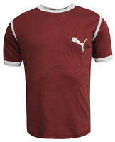 Puma Ruby Wine Slim Fit Short Sleeved Mens T-Shirt Top Tee 540632 02 M9