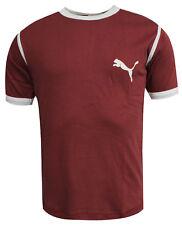 Puma Ruby Wine Slim Fit Short Sleeved Mens T-Shirt Top Tee 540632 02 M9