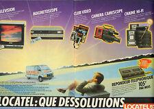 Publicité 1985  (Double page) LOCATEL location de matériel hifi caméa télévision
