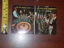 RARE OLD VINTAGE POSTCARD IN ATLANTIC CITY HITTING THE JACKPOT CASINO