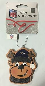 Baltimore Ravens Gingerbread REINDEER Christmas Tree Holiday Ornament NEW