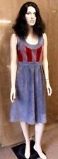 Fab 1960s Suede Dress UK 8