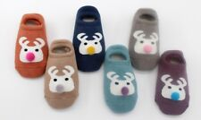 Cute Smile Kids Boys Girls Children Non Slip Short Socks Thick Warm 3d 1-12 Year S (1-3 Years) 3 X Mixed Colours (2 4 5)