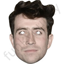 Nick Grimshaw Celebrity Card Fun Face Mask - All Our Masks Are Pre-Cut!