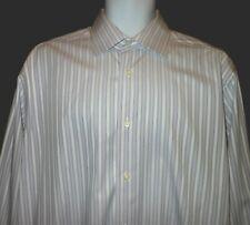 DAVID DONAHUE COLORFUL STRIPED FANCY DRESS SHIRT. FRENCH CUFFS. DD7061C4