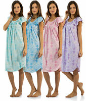 Casual Nights Women's Smocked And Lace Short Sleeve Nightgown Sleepshirt