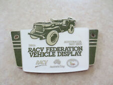 2015 RACV Australia Day Federation Vehicle Display car badge - Jeep