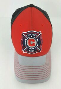 Chicago Fire SC Size S/M Team MLS Adidas Super Flex Fitted Hat Soccer