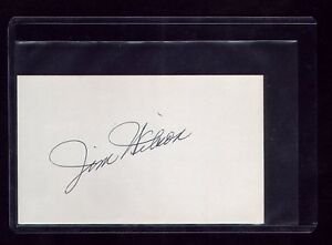 VTG CLEVELAND INDIANS JIM WILSON SIGNED CARD DIED 1986 DEBUT 1945 BOSTON RED SOX