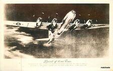 Military Aircraft WW2 Spirit of Hood River RPPC Real photo postcard 10151