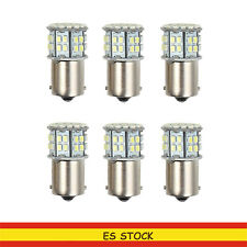 6 PCS BA15S 50 SMD LED LUZ DE FRENO BLANCO 1156 Brake Reverse BOMBILLA 12v 3W