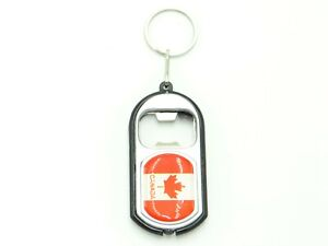 Country Flag Bottle Opener LBO Metal KeyChain Key Chains with Flash Light - New