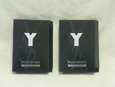 YSL 'Y' For Men EDP Parfum Perfume Cologne Spray Set of 2 - Sexy Fresh Scent NEW