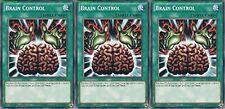Brain Control X 3 1st Mint YUGIOH Cards YGLD-ENA26