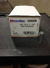 """Minerallac Rod Couplings 59608 1/2 - 13 x 1 -1/4"""" box of 50   Loc 10A"""