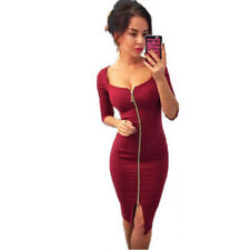 Women Long Sleeve Bodycon Slim Cocktail Party Clubwear Knit Sweater Mini Dress