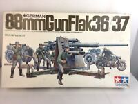 Vintage TAMIYA GERMAN 88mm GUN FLAK 36/37 - 1/35 Scale Model Kit