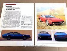 Lamboghini Jarama Original Car Review Print Article J669  1971 1972 1973 1974