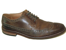 Cole Haan Wingtip Derby Oxford Zapatos Vestido Hombre 10.5M Marrón Gastada Piel