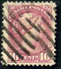 Canada #40a used VF 1880 Queen Victoria 10c deep magenta Small Queen CV$120.00