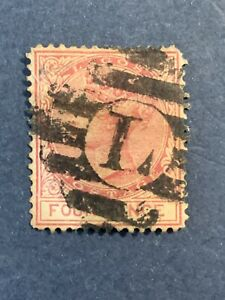 1876 Lagos, 4p Carmine, SG 14a