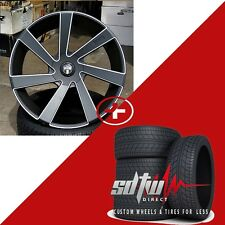 24 DUB Directa S133 Black Wheels Tires Rims Fits Ford F150 Navigator Chevy 1500