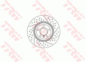 TRW Brake Rotor Rear DF6601S fits BMW M Series M4 (F33,F83) 331kw