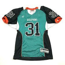 Vintage Miami Dolphins Football Jersey Size Medium High School Sewn On Throwback